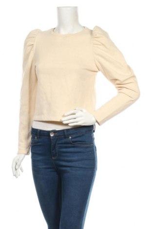 Bluză de femei Zara, Mărime S, Culoare Bej, 69% bumbac, 31% poliester, Preț 80,20 Lei