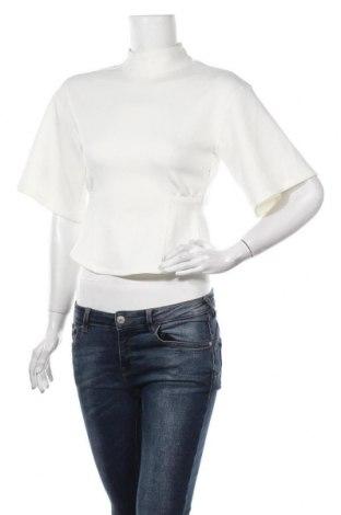 Дамска блуза Zara, Размер XS, Цвят Бял, 84% полиестер, 16% еластан, Цена 29,25лв.
