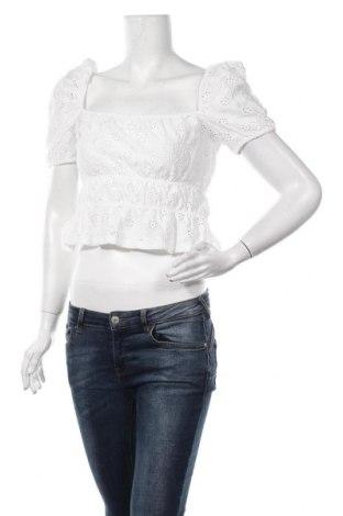 Дамска блуза Zara, Размер M, Цвят Бял, 99% полиестер, 1% еластан, Цена 13,65лв.