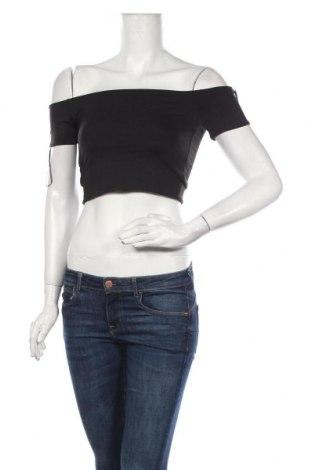 Дамска блуза Zara, Размер M, Цвят Черен, 94% полиамид, 6% еластан, Цена 11,90лв.