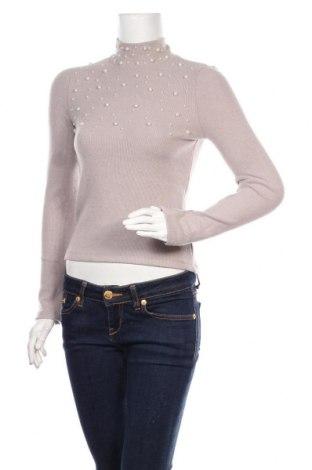 Дамска блуза Zara, Размер M, Цвят Бежов, 63% полиестер, 35% вискоза, 2% еластан, Цена 36,75лв.