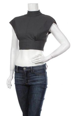Дамска блуза Zara, Размер XS, Цвят Сив, Полиестер, Цена 31,50лв.