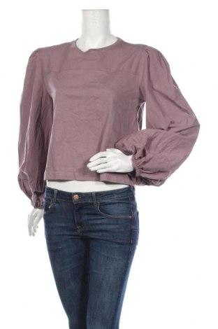 Дамска блуза Zara, Размер M, Цвят Лилав, Памук, Цена 32,45лв.