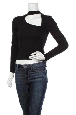 Дамска блуза Zara, Размер S, Цвят Черен, 97% памук, 3% еластан, Цена 36,75лв.