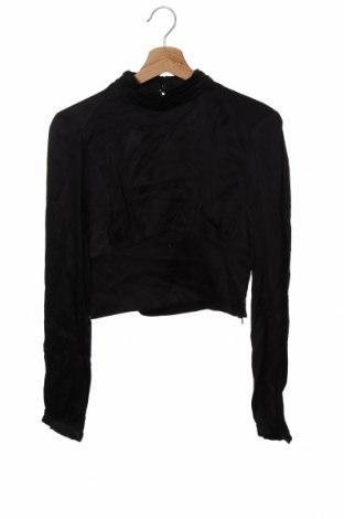 Дамска блуза Zara, Размер S, Цвят Черен, Вискоза, Цена 21,45лв.