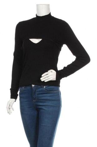 Дамска блуза Zara, Размер M, Цвят Черен, 95% вискоза, 5% еластан, Цена 36,75лв.