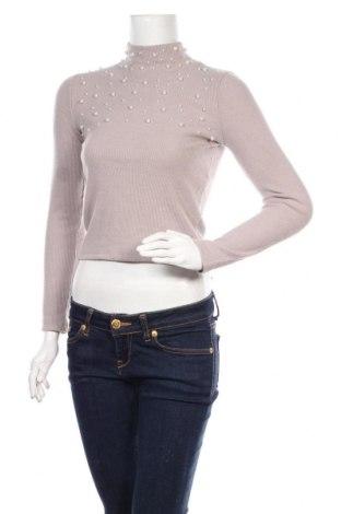 Дамска блуза Zara, Размер S, Цвят Бежов, 63% полиестер, 35% вискоза, 2% еластан, Цена 29,25лв.