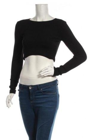 Дамска блуза Zara, Размер M, Цвят Черен, 74% полиестер, 23% вискоза, 3% еластан, Цена 26,95лв.