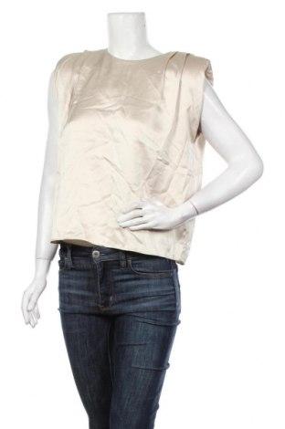 Дамска блуза Zara, Размер S, Цвят Бежов, 97% полиестер, 3% еластан, Цена 11,20лв.