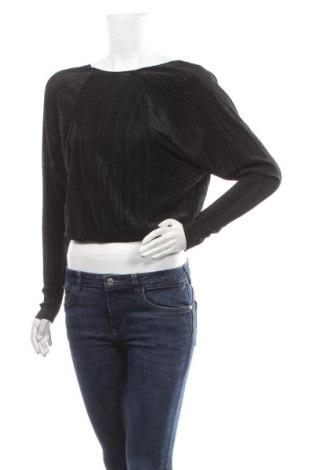 Дамска блуза Zara, Размер S, Цвят Черен, 100% полиестер, Цена 25,30лв.