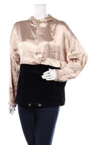 Дамска блуза Zara, Размер L, Цвят Бежов, Вискоза, полиестер, еластан, Цена 36,75лв.