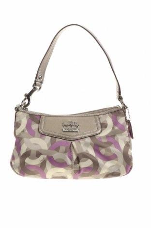Γυναικεία τσάντα Coach, Χρώμα Πολύχρωμο, Κλωστοϋφαντουργικά προϊόντα, γνήσιο δέρμα, Τιμή 75,16€