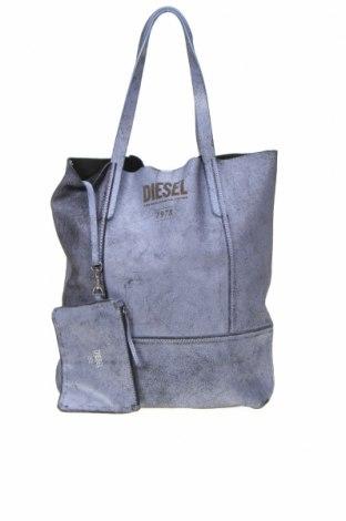Geantă de femei Diesel, Culoare Mov, Piele naturală, Preț 434,21 Lei