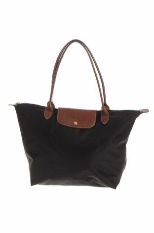 Γυναικεία τσάντα Longchamp, Χρώμα Μαύρο, Κλωστοϋφαντουργικά προϊόντα, γνήσιο δέρμα, Τιμή 75,16€