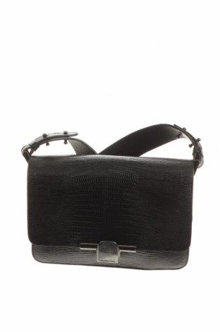 Γυναικεία τσάντα Massimo Dutti, Χρώμα Μαύρο, Γνήσιο δέρμα, Τιμή 53,76€