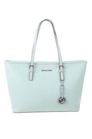 Дамска чанта Michael Kors, Цвят Син, Естествена кожа, Цена 204,00лв.