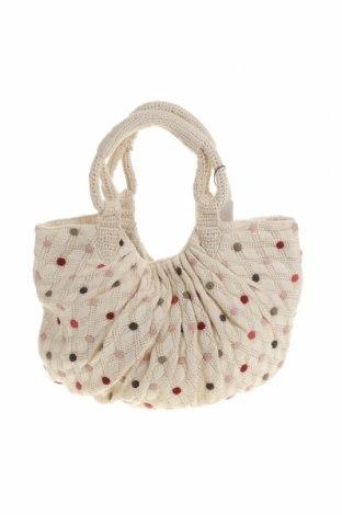 Γυναικεία τσάντα Zara, Χρώμα Εκρού, Κλωστοϋφαντουργικά προϊόντα, Τιμή 36,19€