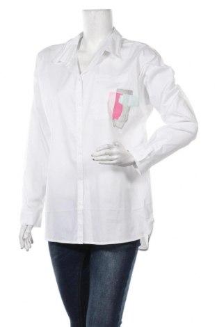 Γυναικείο πουκάμισο Comma,, Μέγεθος L, Χρώμα Λευκό, 72% βαμβάκι, 26% πολυαμίδη, 2% ελαστάνη, Τιμή 22,96€
