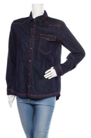 Дамска риза Denim Hunter, Размер M, Цвят Син, 99% памук, 1% еластан, Цена 23,04лв.