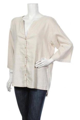 Γυναικείο πουκάμισο Lounge Nine, Μέγεθος L, Χρώμα  Μπέζ, Τιμή 14,05€