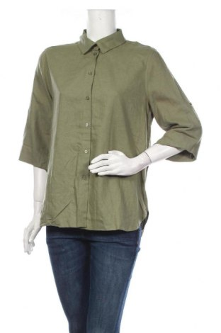 Дамска риза Soaked In Luxury, Размер M, Цвят Зелен, 55% лен, 45% вискоза, Цена 17,25лв.