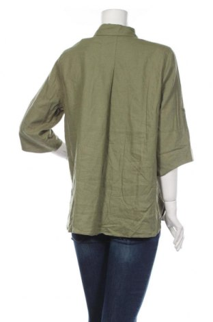 Дамска риза Soaked In Luxury, Размер M, Цвят Зелен, 55% лен, 45% вискоза, Цена 37,95лв.