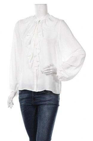 Дамска риза Zara, Размер M, Цвят Бял, Полиестер, Цена 34,50лв.