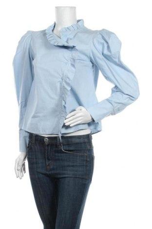 Cămașă de femei Zara, Mărime M, Culoare Albastru, Bumbac, Preț 101,32 Lei