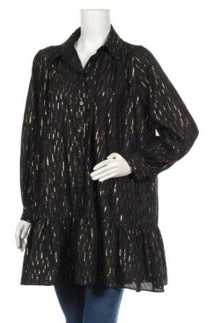 Дамска риза Zara, Размер L, Цвят Черен, 60% вискоза, 37% полиестер, 3% метални нишки, Цена 44,25лв.