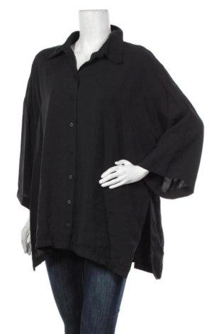 Дамска риза Zara, Размер L, Цвят Черен, 84% модал, 16% полиестер, Цена 28,60лв.
