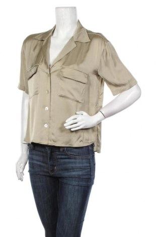 Дамска риза Zara, Размер S, Цвят Зелен, Вискоза, Цена 12,32лв.