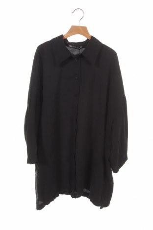 Γυναικείο πουκάμισο Zara, Μέγεθος XS, Χρώμα Μαύρο, 84% μοντάλ, 16% πολυεστέρας, Τιμή 12,53€