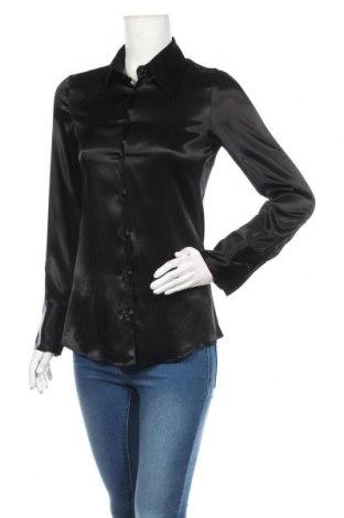 Дамска риза Zara, Размер S, Цвят Черен, 95% вискоза, 5% еластан, Цена 39,00лв.