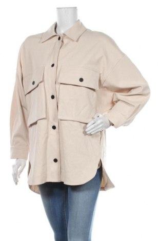 Дамска риза Zara, Размер XS, Цвят Бежов, 64% полиестер, 33% вискоза, 3% еластан, Цена 51,75лв.