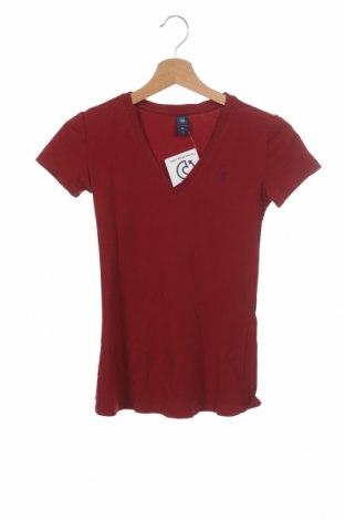 Γυναικείο t-shirt G-Star Raw, Μέγεθος XS, Χρώμα Κόκκινο, 95% βαμβάκι, 5% ελαστάνη, Τιμή 19,49€