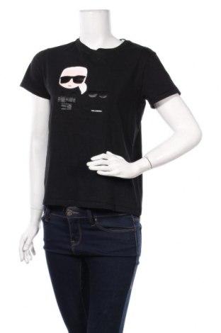 Дамска тениска Karl Lagerfeld, Размер M, Цвят Черен, Цена 119,25лв.
