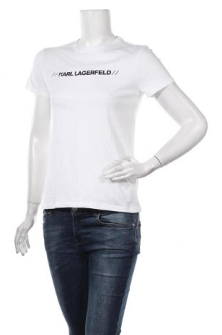 Дамска тениска Karl Lagerfeld, Размер S, Цвят Бял, Памук, Цена 114,92лв.
