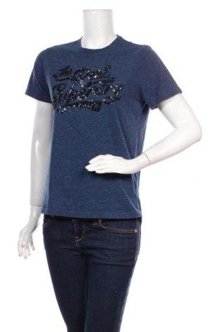 Γυναικείο t-shirt Superdry, Μέγεθος L, Χρώμα Μπλέ, 60% βαμβάκι, 40% πολυεστέρας, Τιμή 12,99€