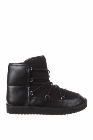 Botine de damă Pull&Bear, Mărime 39, Culoare Negru, Textil, piele ecologică, Preț 102,14 Lei