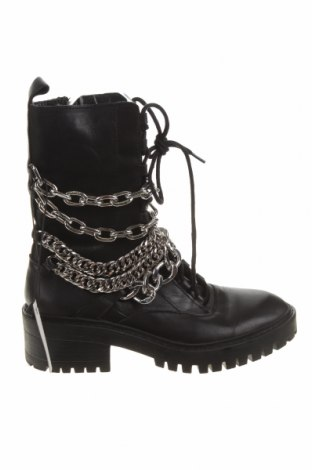 Dámské boty  Zara, Velikost 37, Barva Černá, Pravá kůže, Cena  1728,00Kč
