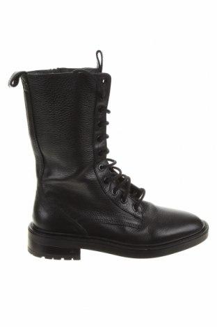 Dámské boty  Zara, Velikost 38, Barva Černá, Pravá kůže, Cena  1080,00Kč