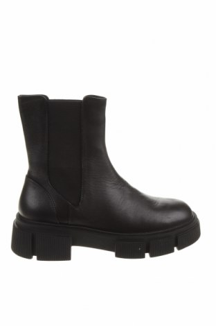 Дамски боти Zara, Размер 36, Цвят Черен, Естествена кожа, Цена 126,75лв.