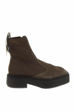 Dámské boty  Zara, Velikost 38, Barva Zelená, Přírodní velur , textile , Cena  1619,00Kč