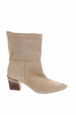 Dámské boty  Zara, Velikost 39, Barva Béžová, Přírodní velur , Cena  1037,00Kč