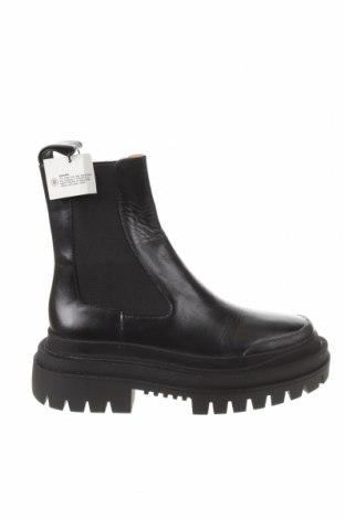 Dámské boty  Zara, Velikost 35, Barva Černá, Pravá kůže, Cena  1347,00Kč