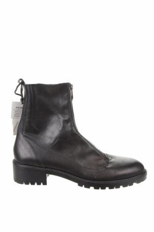 Дамски боти Zara, Размер 40, Цвят Черен, Естествена кожа, Цена 71,55лв.