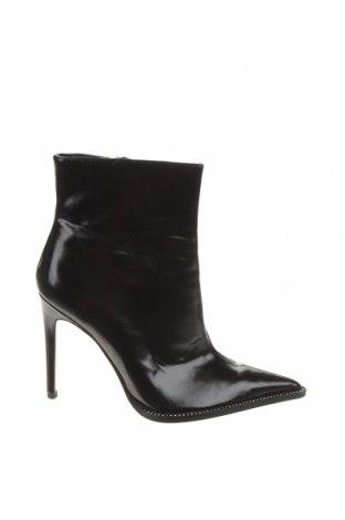 Γυναικεία μποτάκια Zara, Μέγεθος 39, Χρώμα Μαύρο, Δερματίνη, Τιμή 40,72€