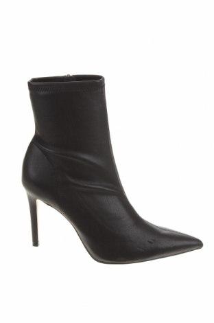 Γυναικεία μποτάκια Zara, Μέγεθος 40, Χρώμα Μαύρο, Δερματίνη, Τιμή 40,72€