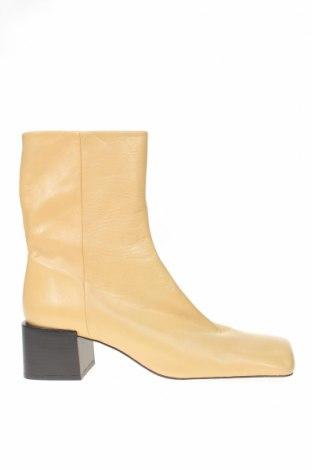 Γυναικεία μποτάκια Zara, Μέγεθος 41, Χρώμα  Μπέζ, Γνήσιο δέρμα, Τιμή 20,49€