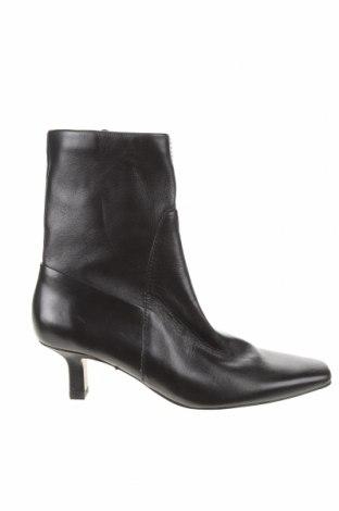 Γυναικεία μποτάκια Zara, Μέγεθος 36, Χρώμα Μαύρο, Γνήσιο δέρμα, Τιμή 81,96€